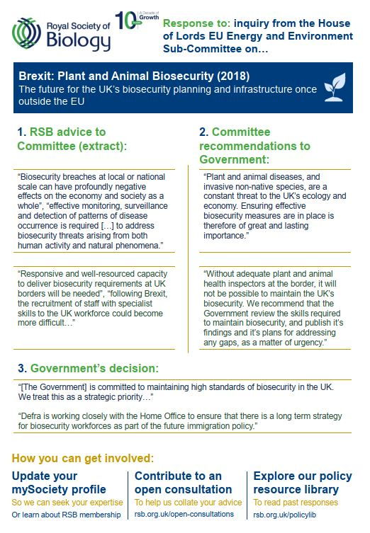 Policy Case Study Brexit Biosecurity